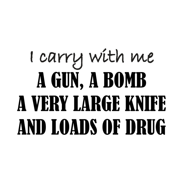 I carry with me...