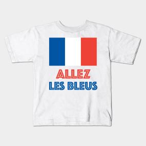 bd8512260da Allez Les Bleus French Sports Fan Kids T-Shirt