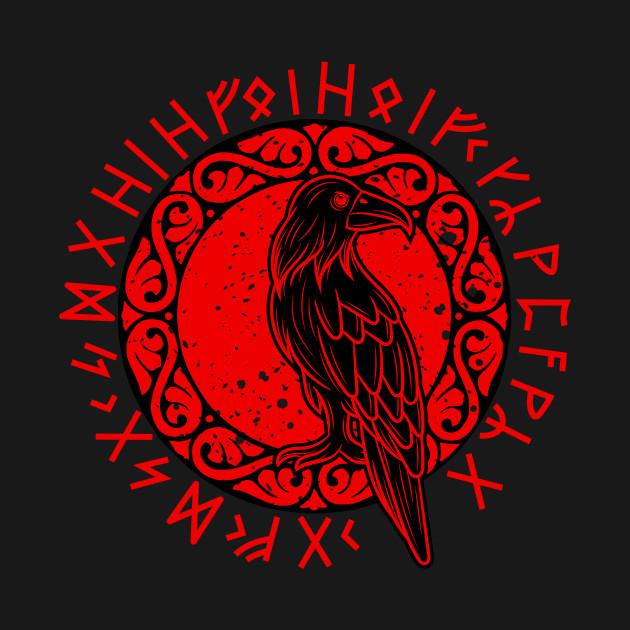 Odin raven vikings runes huginn muninn myth gift idea present