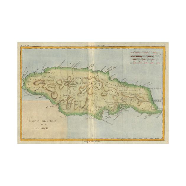 Vintage Map Of Jamaica Jamaica Map TShirt TeePublic - Vintage map of jamaica