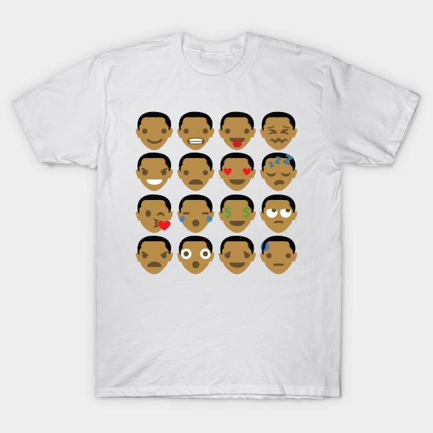 Barack Obama Emoji Different Facial Expression - Emoji - T-Shirt ... ff961136f