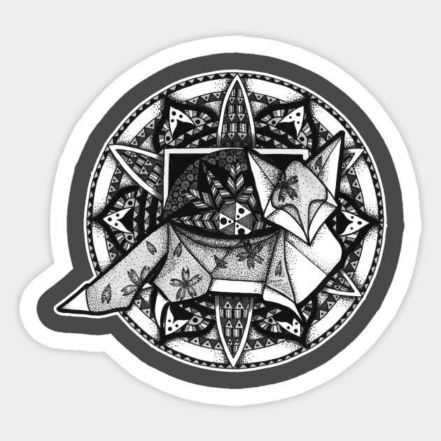 Origami Fox Mandala
