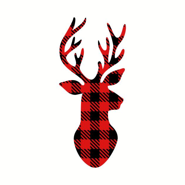 Deer head plaid. Christmas