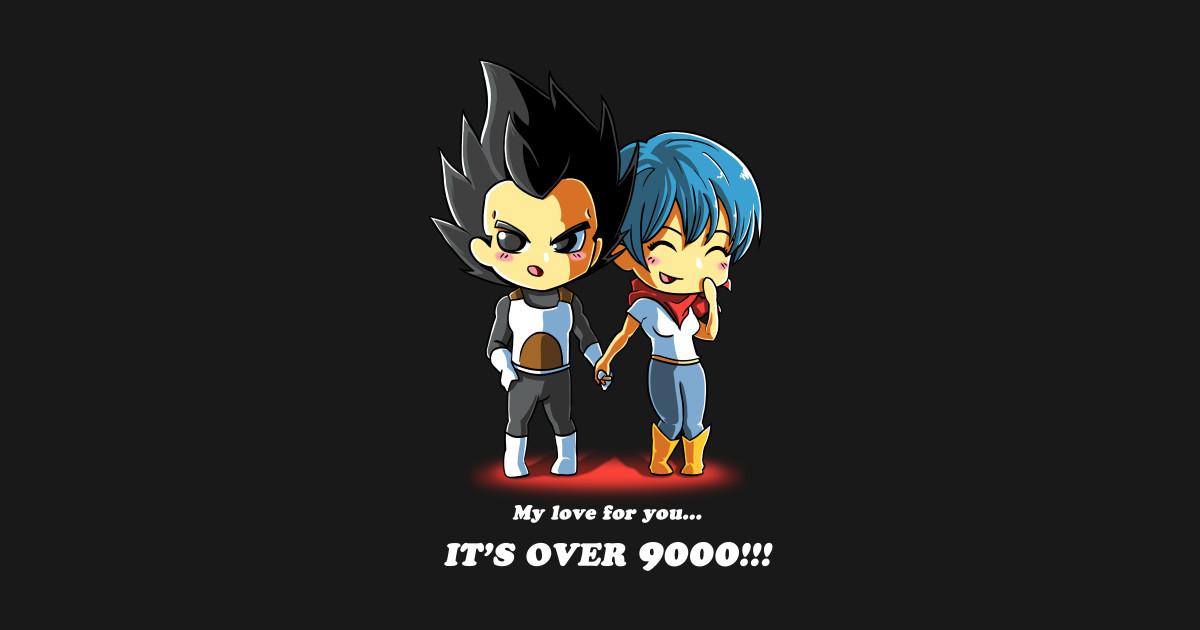 Love over 9000 dragonball z t shirt teepublic