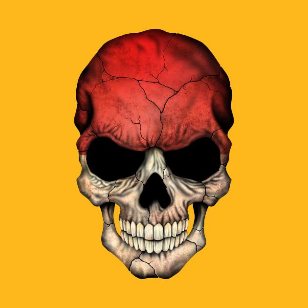 Indonesian Flag Skull - Indonesia - T-Shirt | TeePublic