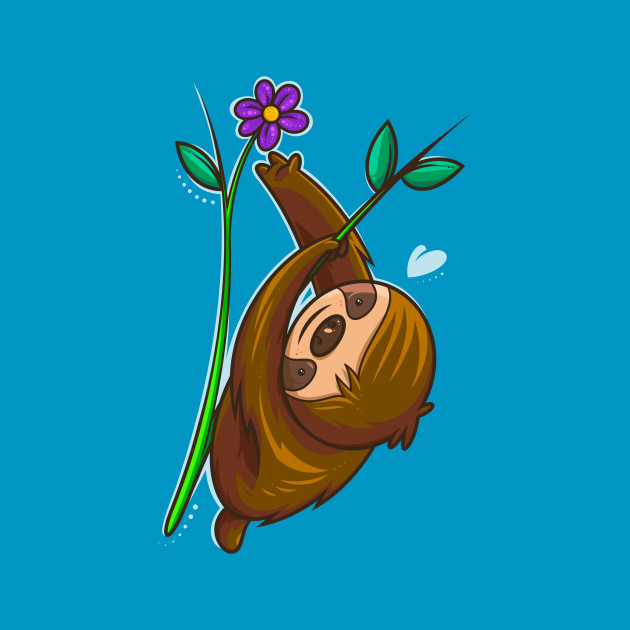 Sloth And Flower