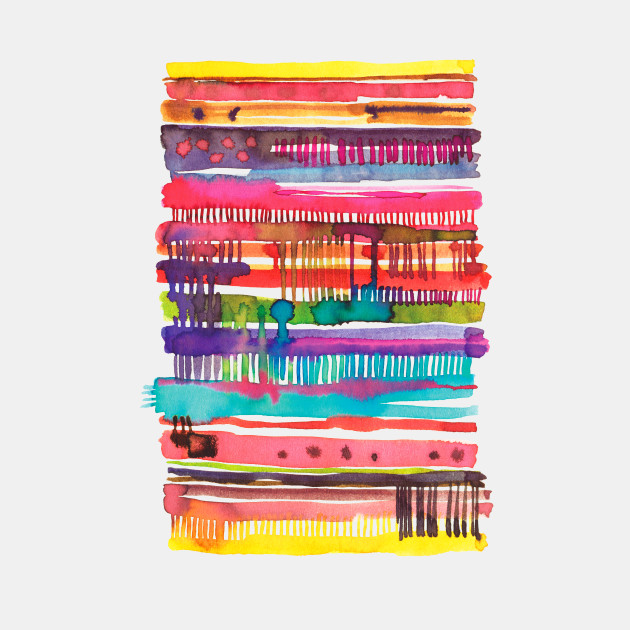 Watercolor Irregular Lines