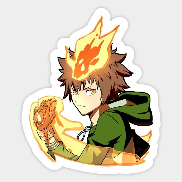 Tsunayoshi Sawada Katekyo Hitman Reborn Tsuna Sticker