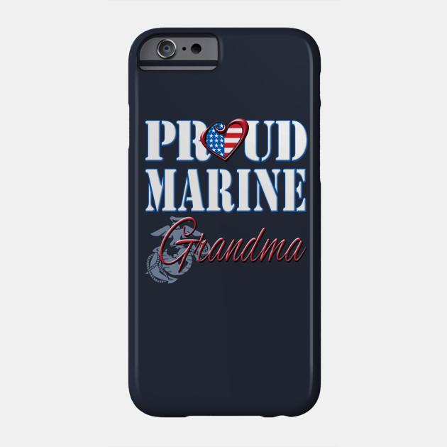 Proud Marine Grandma United States Of America Military Phone Case