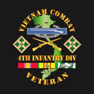Vietnam Combat Infantry Veteran w 4th Inf Div SSI V1 t-shirts