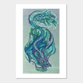 Imperial Water Dragon Wall Art