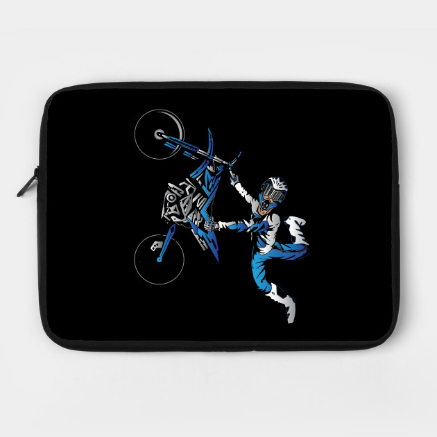 Dirtbiker Motocross Freestyle Fly Blue.