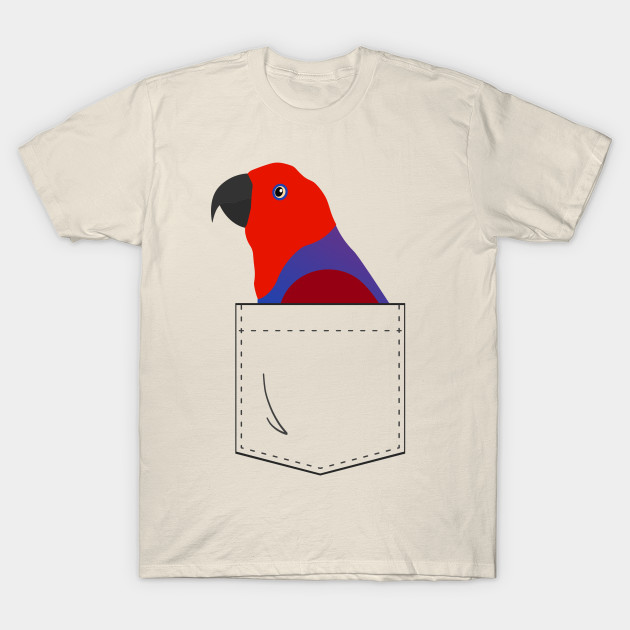 53276331 Eclectus Parrot Female In Your Front Pocket - Parrot - T-Shirt ...