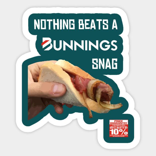 Bunnings Snag Stickers Teepublic