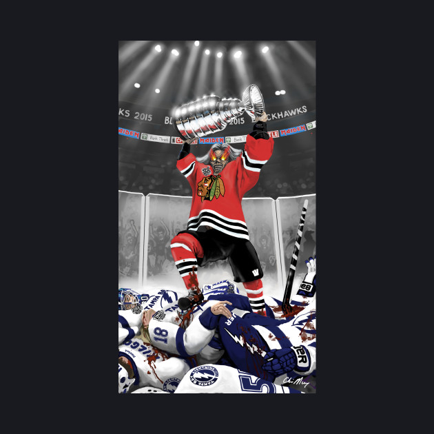 IRON MAIDEN - Blackhawks 2015 Hockey Champs