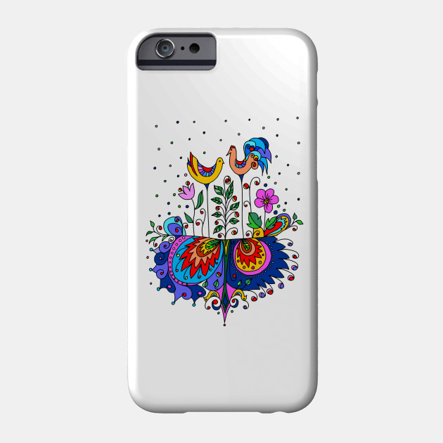 Folk Roosters iphone 11 case