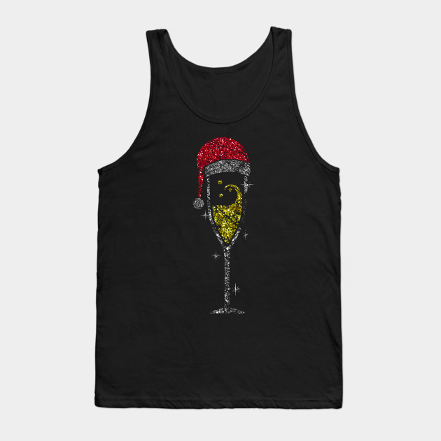 Champagne Glass Christmas champagne glass of sparkling wine glass Tank Top