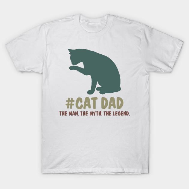 de7c3183d Cat Dad The Man The Myth The Legend Funny Vintage Shirt - Christmas ...