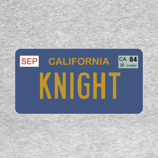 Knight Rider license plate