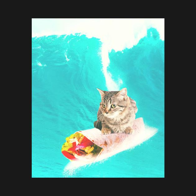 Kitty Cat Surfing Burrito