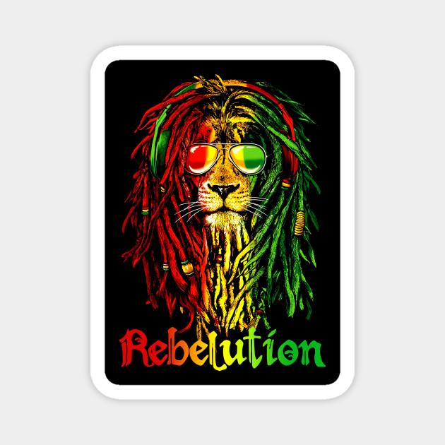 Rebelution Lion Dreadlocks Rasta Reggae Top Edition