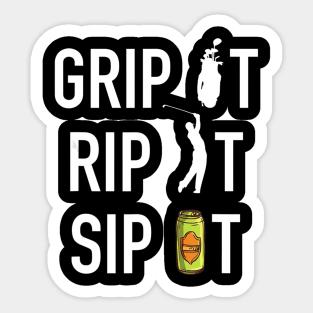 Funny Golf Stickers Teepublic