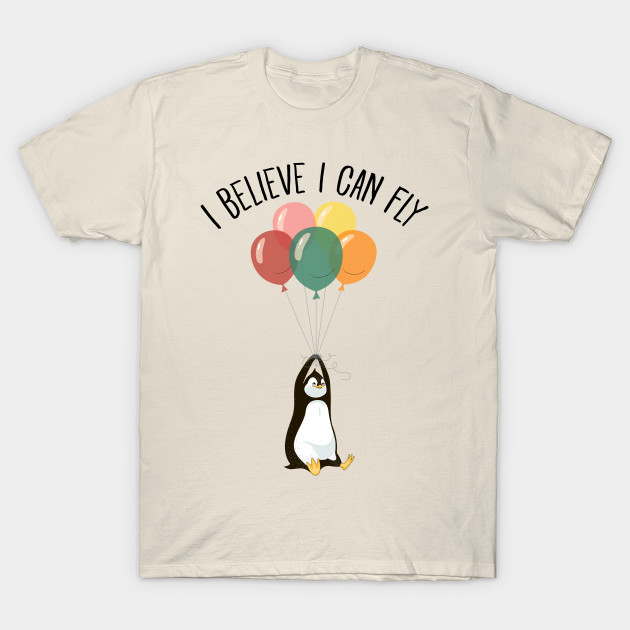 ebf90623 I Believe I Can Fly - Cute Penguin Flying With Balloons - Penguin ...