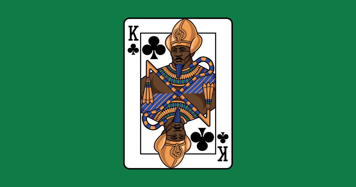 black king of clubs  playing cards  tapestry  teepublic