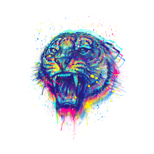Painted Tiger T Shirt