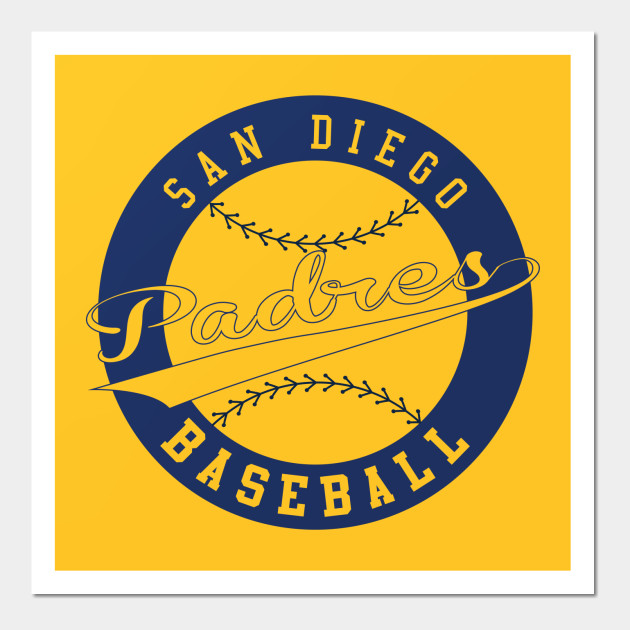 San Diego Padres Baseball Club - San Diego Padres - Wall Art | TeePublic