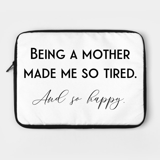 New parents dad mom baby children happy tired quote