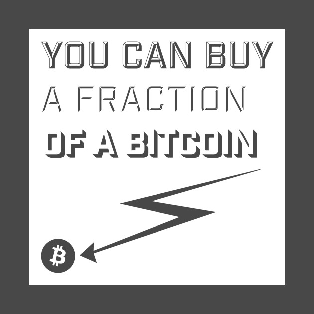 You Can Buy A Fraction Of Bitcoin Shirt