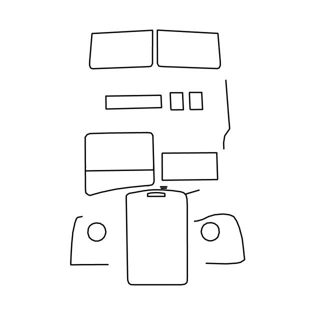 Leyland Titan double decker bus outline (black)
