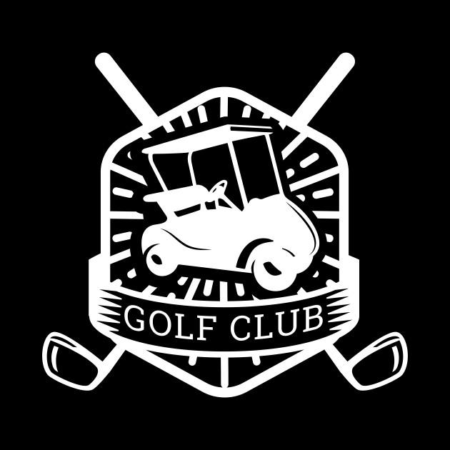 Golf Club logo with golf cart