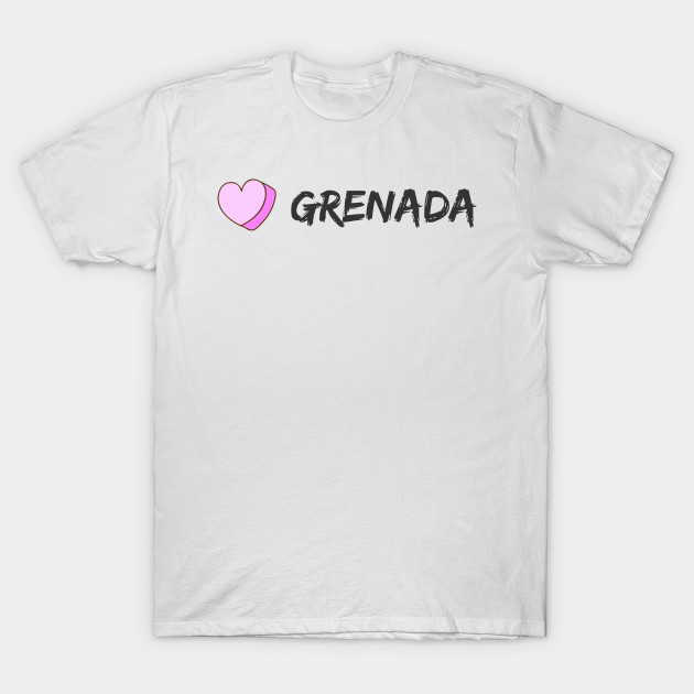 I Love Heart Grenada Pink Kids T-Shirt