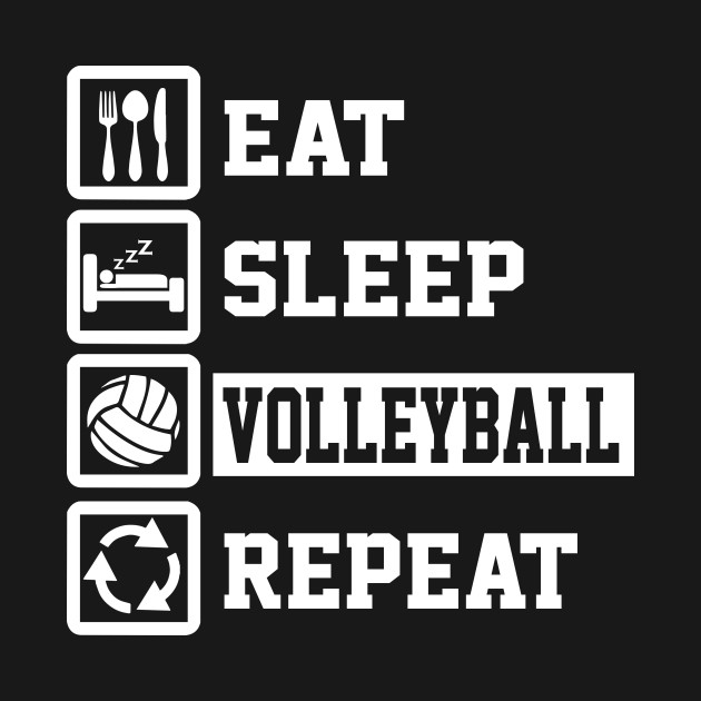 eat sleep volleyball repeat shirt funny volleyball gift