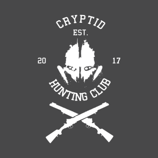 Cryptid Hunting Club (White) t-shirts