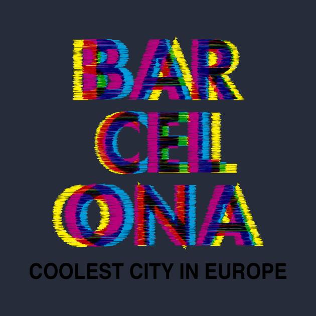 Barcelona Glitch Psychedelic - Barcelona - Sudadera Con Gorro Para ... b95d8a3c13d