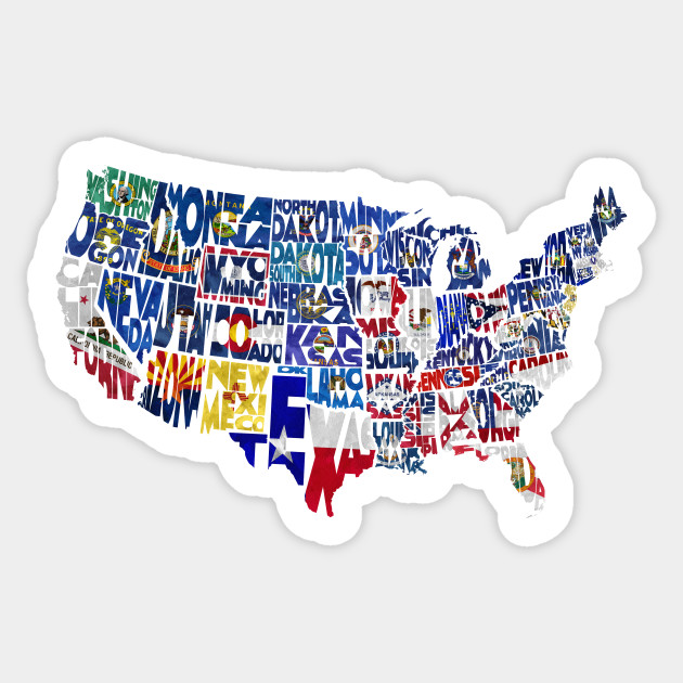 Flag Map of States
