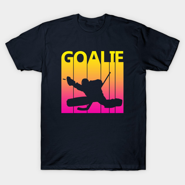 Vintage Retro Ice Hockey Goalie