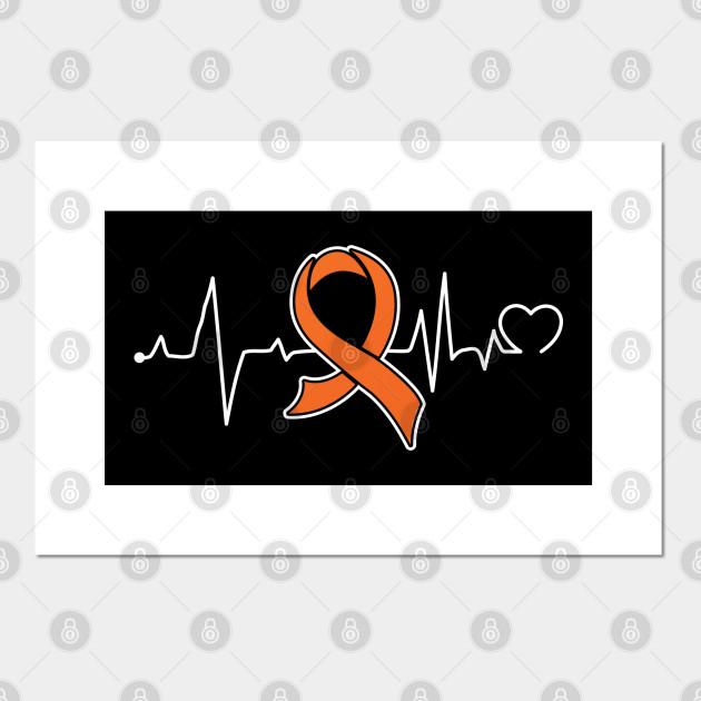 Heart Beat Kidney Cancer Gifts Kidney Cancer Awareness Kidney Cancer Awareness Month Posters And Art Prints Teepublic