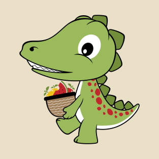 Dino With Fruits t-shirts