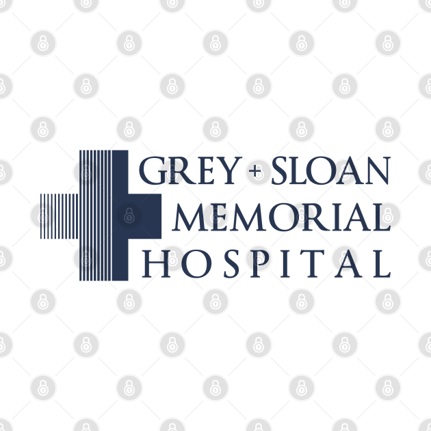 Grey + Sloan Memorial Hospital Logo   Blue Print