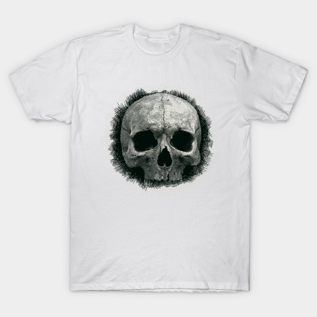 Black&White Scull T-Shirt-TOZ