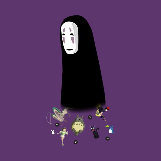 Studio Ghibli-No face-Studio Ghibli-My Neighbor Totoro, Kiki's Delivery Service, and Spirited Away