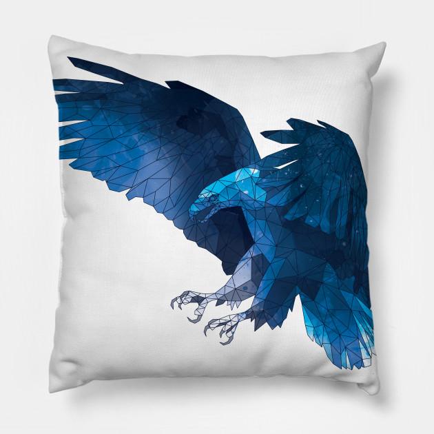 Geometric Blue Eagle