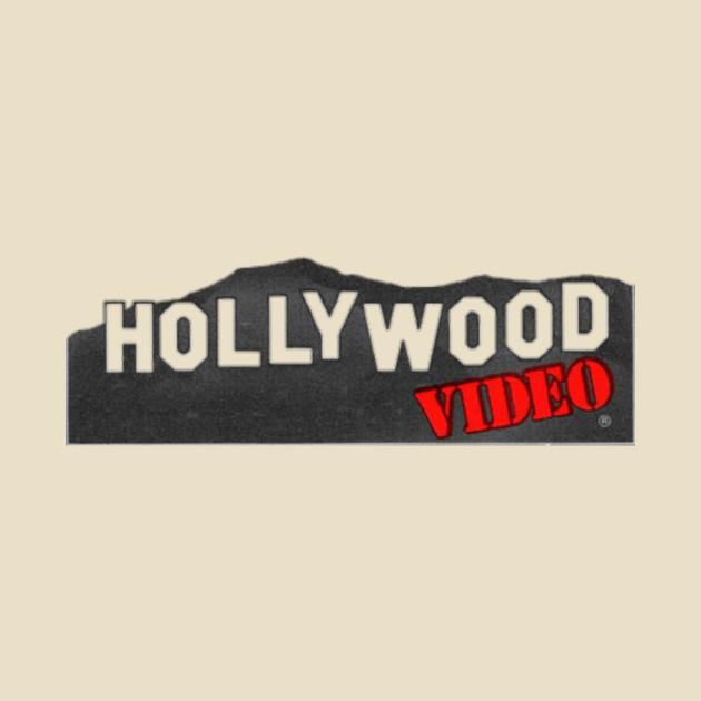 hollywood video logo - video store - t-shirt | teepublic