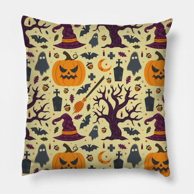 Creepy Pumpkin Halloween Pattern