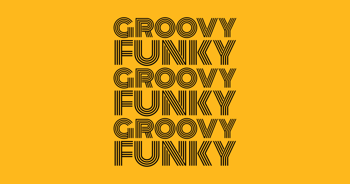 Groovy Funky Disco Black Font by highbrowdesigns