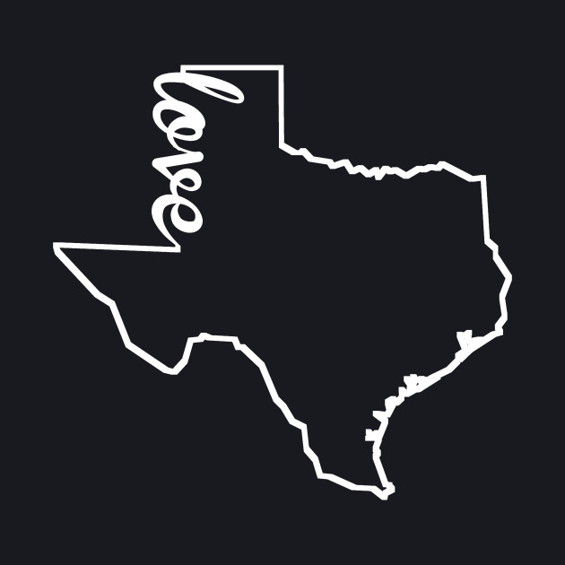 Texas Love State Silhouette
